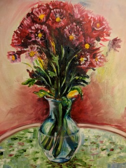 "My Original Art Inspired by Van Gogh's Style (""Flowers from my Beloved"")"