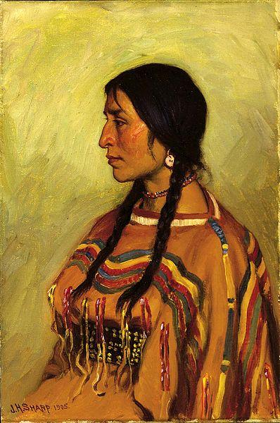 398px-Joseph_Henry_Sharp_-_Blackfoot_Indian_Girl_(1905)